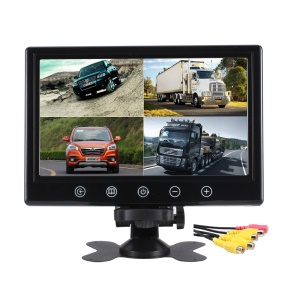 4 Split Screen 9.2-inch 800x480 TFT LCD CCTV Car Monitor with Remote Control (JSW926-DC4H)