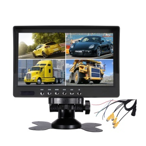 7-inch 4 Split Screen 800x480 TFT LCD CCTV Car Monitor with Remote Control (JSW7080-HK4H)