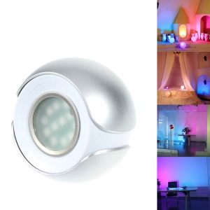 265 Living Color Changing LED Atmosphere Light LED Mood Light with Remote Control - Silver / EU Plug