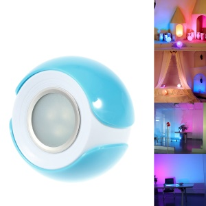 256 Colors Colorful LED Mood Lighting Living Lamp with Remote Control - Blue / US Plug