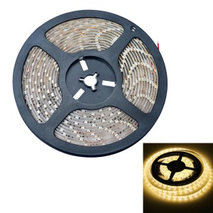 JIAWEN 5M 25W 12V 300-LED 3528 SMD LED Flexible Lichtleiste IP65 Wasserdicht - Warmweiß