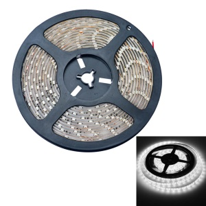 JIAWEN 5M 25W 12V 300-LED 3528 SMD LED tira de luz flexível IP65 impermeável - Cool White