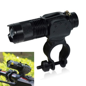 YK1516 LED Bicycle Light Waterproof 5W 3-Mode Cycling Flashlight Front Light - Black