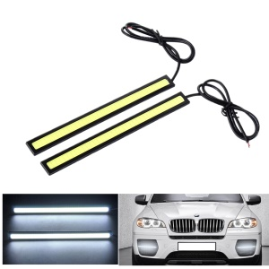 One Pair YouOKLight YK1494 DIY Waterproof 6W COB LED Daytime Running Light for Car - Black + Yellow (1PCS)