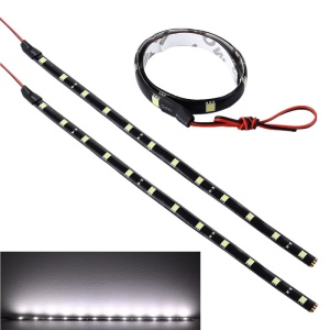 YouOKLight YK1495 5W Flexible Water-proof LED Car DRL Light Strips - White (2PCS / 30cm)