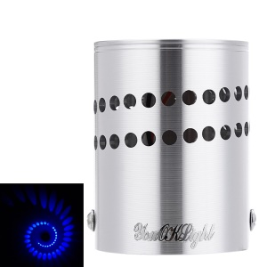 YouOKLight YK2243 1W Cylinder Shape LED Wall Lamp - Blue light