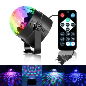YOUOKLIGHT YK2278 portátil 3-LED Stage Magic UV Light Sound Active LED Girar Magic Ball Light-US vela