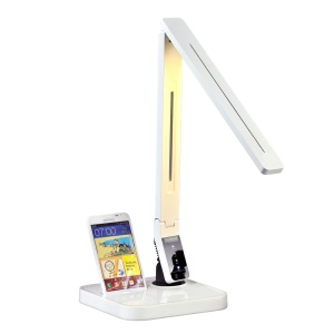 LED Desk Lamp with Android Charging Dock Station 27 LEDs 11W Touch Control 2A USB Output - White / EU Plug