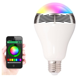 E27 3W Bluetooth Smart LED Light Bulb with Speaker for Home Office