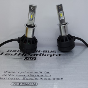 Une paire A9 H3 75W 8500LM 6000K LED phare