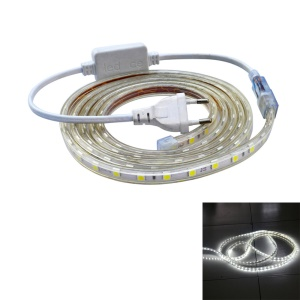 JIAWEN 3M Waterproof Flexible LED Strip Lamp 18W 180 x 5050 SMD - EU Plug / White