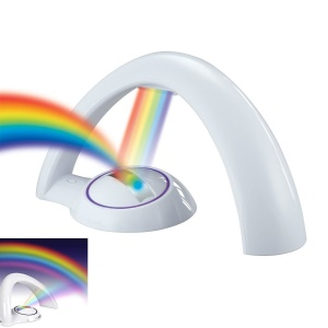LED Rainbow Projector Night Light for Kid's Room - White