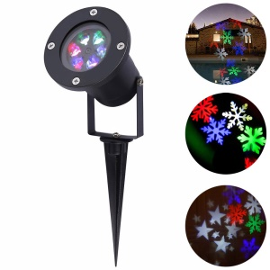 YouOKLight YK2281 12W Holiday Decoration Waterproof Outdoor LED Stage Lights LED RGB Christmas Laser Snowflake Projector Lamp - US Plug