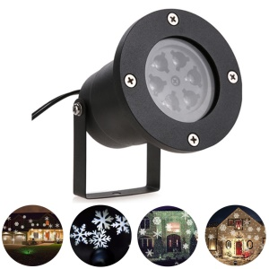 YouOKLight YK2281 12W LED Stage Lights Cool White Christmas Laser Snowflake Projector Lamp Home Decor - EU Plug