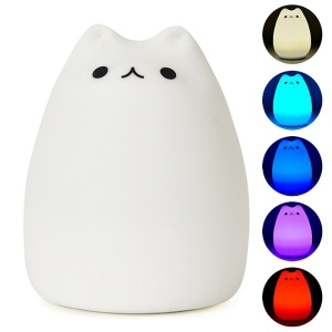 YouOKLight YK2218 0.4W RGB USB Rechargeable Color Changeable Silicone LED Sensitive Tap Control Night Light
