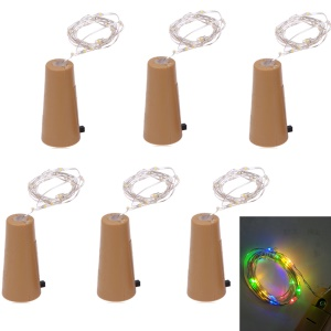 YouOKLight 2M 2W 4.5V RGB Bottle Stopper Light Red LED String Light 6PCS Contain LR44 button battery