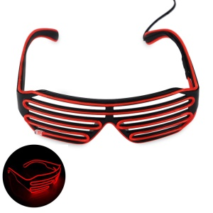 YOUOKLIGHT YK2286 Cool LED Glasses 3 Modes Sound Control Fashionable Glasses - Red
