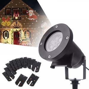 YK2288 Youoklight 4W 100 - 240V Multi-color 12 Types Christmas Laser Snowflake LED Projector - EU Plug