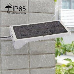 36 LEDs Solar Powered Wall Sconce with Mounting Pole Outdoor Waterproof Motion Sensor Light - White