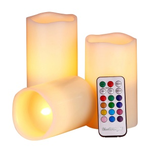 YOUOKLIGHT 3Pcs/Set YK2271 Color Changing LED Electronic Candle LED Candle Lights with Remote Controller