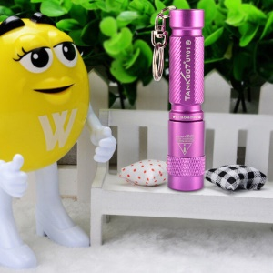 TANK007 UV01-365nm Mini Fluorescence Detection Flashlight Portable UV Flashlight Torch - Purple