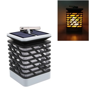 Hanging LED Solar Lantern Candles for Outdoor Garden Lawn Yard - Black / White