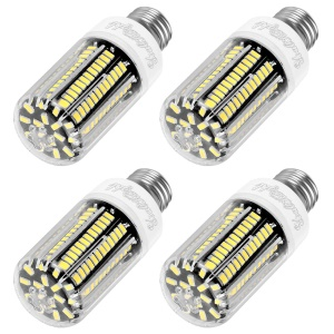 4PCS/Set YOUOKLIGHT E27 12W SMD 5733 1100LM 136-LED Corn Light Bulb with Cover - Cool White