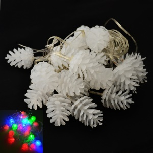YouOKLight Holiday 4W 20-LED RGB Pineal String Light for Christmas Decoration - White / EU Plug