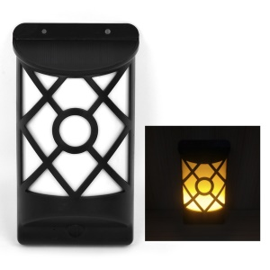 YY106 Grid Pattern Solar Powered Light Control LED Wall Light Outdoor Garden Lamp - Warm White
