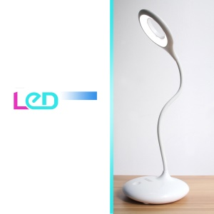 360-Degree Rotating Rechargeable Dimmable 16-LED USB Table Desk Lamp Light Touch Switch