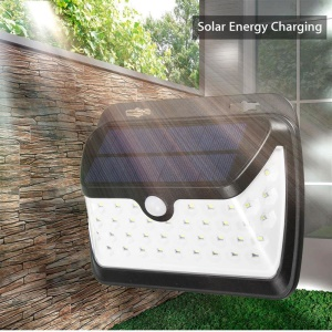 42-LED Wide Angle Solar PIR Motion Sensor Light with 3 Lighting Modes for Wall Driveway Garden