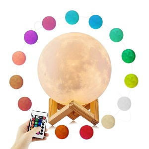 YOUOKLIGHT YK2302 LED 16 Colors Moon Style Light, Night Light with Remote Touch Control and Dimming, USB Recharge