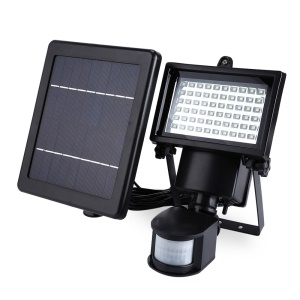 60-LED Solar Power Outdoor Sensor Flood Light Security Lamp