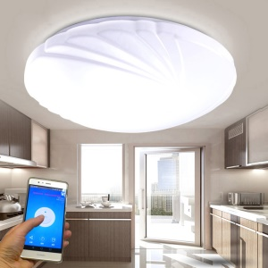 Phoenix Tail Pattern AC 110 -240V 35CM 15W WiFi Phone APP Control Smart LED Ceiling Light - Cool White