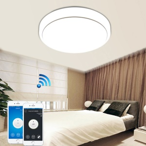 AC 110 -240V 35CM 15W WiFi Phone APP Control LED Ceiling Light - Cool White