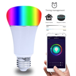 LED Wireless WiFi APP Remote Control Dimmable RGB LED Smart Light Bulb AC 85 - 265V