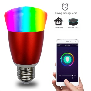 Adjustable Brightness Smart WiFi E27 LED Bulb Wireless APP Remote Control Bulb AC 85 - 265V