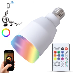 YOUOKLIGHT YK0071 E27 Smart RGBW Bluetooth Speaker Music Bulbs Lighting Lamp Colorful with Remote Control for Party Holiday
