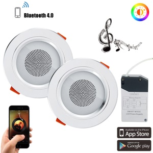 2Pcs/Set YOUOKLIGHT YK4459 Smart Bluetooth Music LED Ceiling Down Light 7.5W APP Control