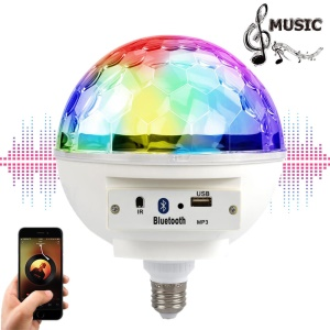 YOUOKLIGHT YK0073 E26/E27 7-Color LED Bluetooth USB Sound Speaker Disco Light Rotating Party Stage Lamp