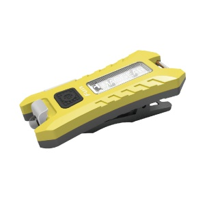 SUNREX FUN Series Rechargeable LED USB Bicycle Rear Light Mountain Bike Tail Light Taillight Safety Warning - Yellow