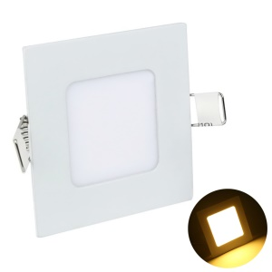 YOUOKLIGHT 3W LED Square Panel Ceiling Lamp Warm White Ultra-thin Downlight AC85-265V