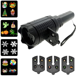 YOUOKLIGHT YK2323 Portable Projector LED Flashlight 12-Pattern Film Slideshows Handheld Lamp