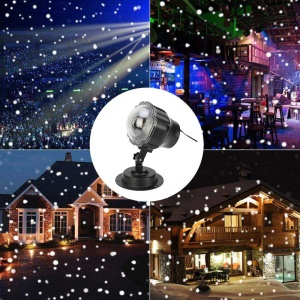 YOUOKLIGHT Waterproof Cold White LED Snowfall Projector Light  Landscape Spotlights with Remote Control - EU Plug