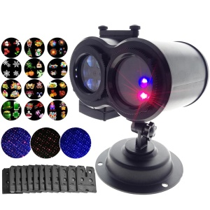 YOUOKLIGHT YK2320-EU 12 Cards LED Lawn Lamps Laser Spots Projector Holiday Party Lights - EU Plug