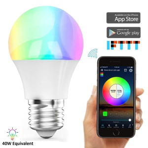 YOUOKLIGHT YK0074 LED Bluetooth Smart Bulb 4.5W E27 RGBW Color Changing LED Bluetooth 4.0 Smart Light Bulb