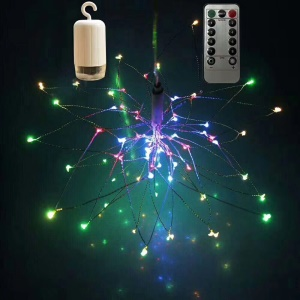 2Pcs/Set Starburst Light 40-LED String Firework Lamp Battery Operated with Remote Control