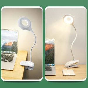 TGX-770 Touch Switch Clip Desk Lamp Eye Protection Reading Light Rechargeable USB LED Table Lamp