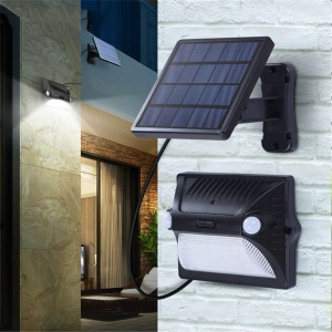 Split Solar Body Induction Lamp 12 LED Outdoor Patio Landscape Waterproof Wall Lamp