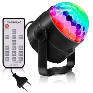 YOUOKLIGHT YK2278-NEW Sound Disco Lights with Remote Control Party Lighting Disco Ball Speaker Strobe Rotating Lamp - US Plug